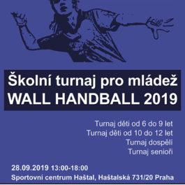 Školní turnaj pro mládež Wall Handball 2019